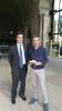 Il Dott. Emilio Dario Sensi in visita alla chiesa di San Saturnino